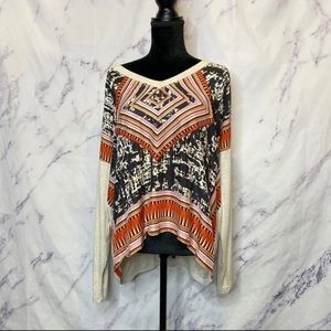 CAbi Silk Aztec Print Top